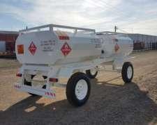 Acoplado Tanque Combustible de Chapa 1500 Litros + 1500 Litr