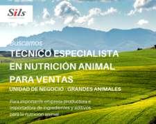 Técnico Especialista en Nutrición Animal para Ventas