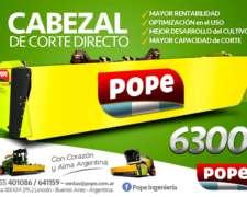 Cabezales Pope de Corte Directo 6.30 de Ancho Nuevo Modelo