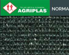 Media Sombra Agriplas Normal Color Negro 80% 2,10 X 50