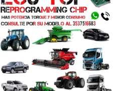 Reprogramación Chip Motor , Case, John Deere , Potenciacion