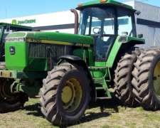 Tractor John Deere 4760, 200hp, C/duales, 1993