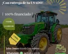 Tractor 6110e con Cabina