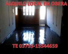 Alquilo Local En Obera, Misiones