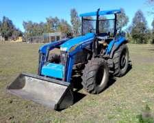 Tractor New Holland TD 70 con Cargador NH 610 sin Cabina