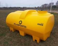 Tanque Plástico Horizontal Modelo 6000. Plasforte SRL.