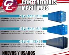 Contenedores Marítimos de 20 y 40 Pies.