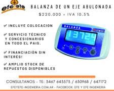 Balanza para Monotolva Abulonada- Inalambrica con Tablet 7