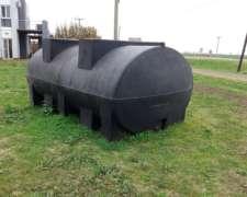 Tanque Plastico Horizontal 10.000 Lts. con Rompe Olas.