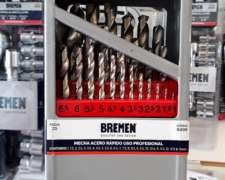 Juego de Mechas Acero Rápido Bremen SET 25 PZ 1 a 13 MM