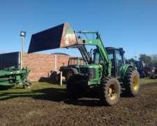 Tractor, John Deere 6110j Con Pala Frontal