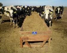 Comedero Madera Batea Tambo Movil X 5m Silo P/ 20 Vacas