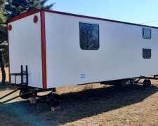 Casilla Rural 6,40mt, 4 Camas, Agua Caliente. Disponible