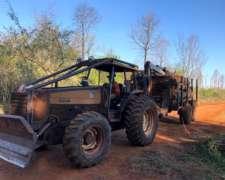 Tractor Valtra BM 120, con Carreta y Grua Kesla 305