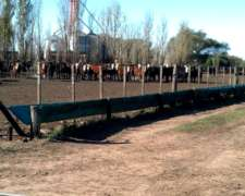 Comedero para Hacienda Feedlot 1.30mt. X 25mts. Largo