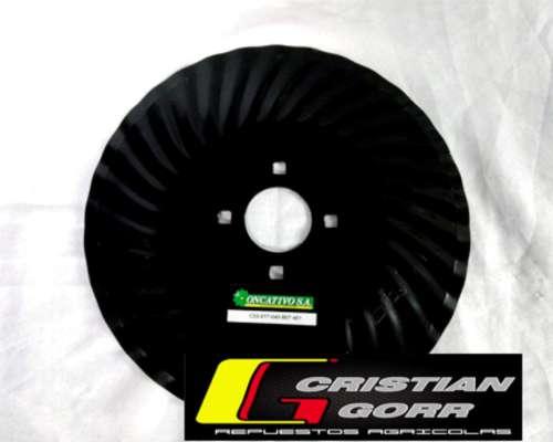 Cuchilla Turbo 33 Ondas de 16 Pulgadas / Sembradoras