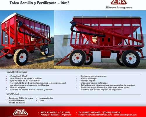 Acoplado Tolva Semilla/fertilizante 14 TN (noviembre 2019)