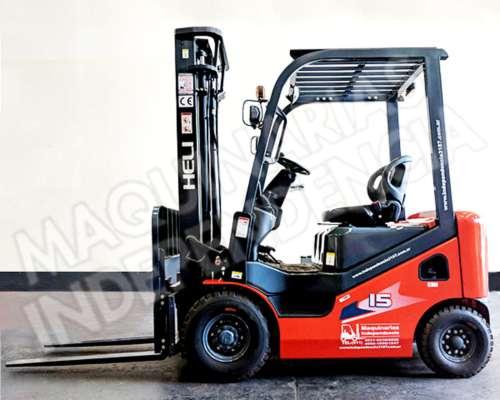 Autoelevador Heli 1500 Kg Nafta CPQD15 Nissan Desplazador
