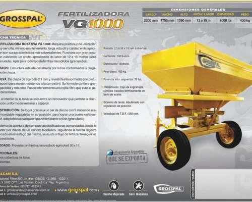 Fertilizadora VG 1000 - Grosspal