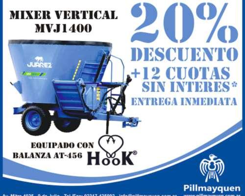 Mixer Vertical Juarez Mvj1400 Con Balanza Hook