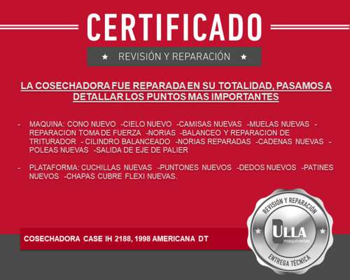 Case 2188, Año 1997, Certificada, Hasta 5 Años Tasa 0%