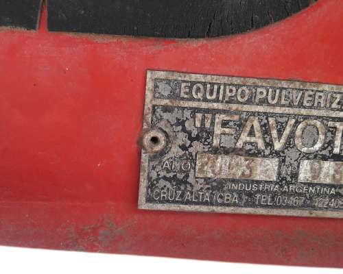 Pulverizador Favot 3.000 Litros Balancin