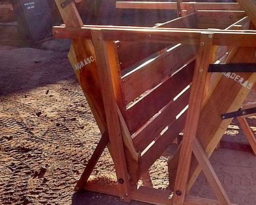 Cepo Yugo para Cerdos Chanchos en Quebracho, Anchico Agraso