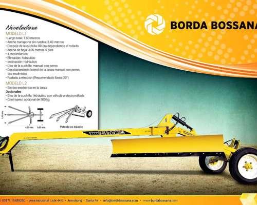 Niveladora Borda Bossana 4 Movimientos Patentada