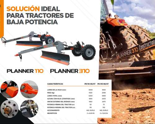 Niveladora GTS Modelo Planner 310 HD