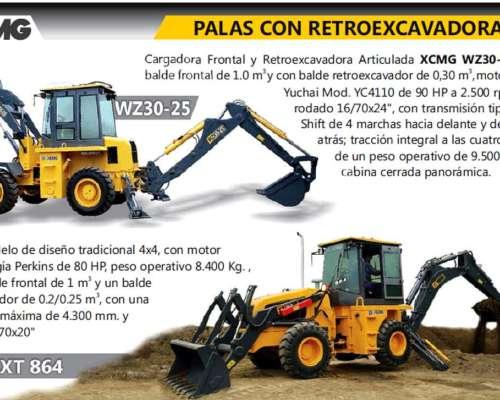 Retro-pala.pala y Retroexcavadora Xcmg 2014