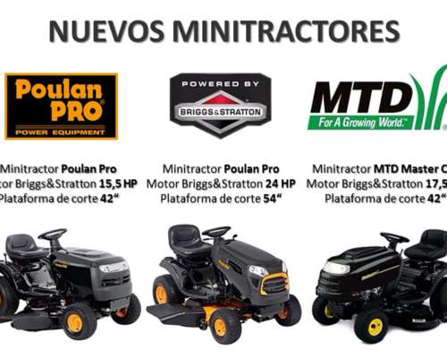 Minitractores Poulan PRO 15 HP / 17 HP / 24 HP