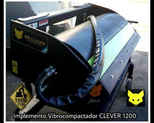 Implemento Minipala Rodillo Liso Compactador Todo Vial