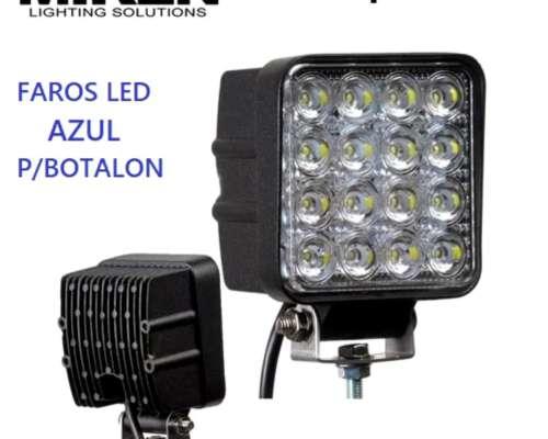 Juego de Faros LED Azul P/botalon, 48w, 16 Led, Marca Miken