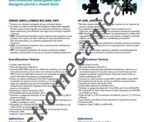 Bomba Zenit DRP 750/4/100 - 8,8 HP - Trifásica