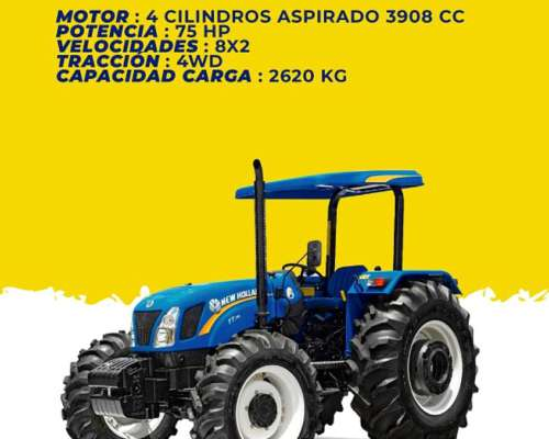 Tractor New Holland TT75 4wd - 0km