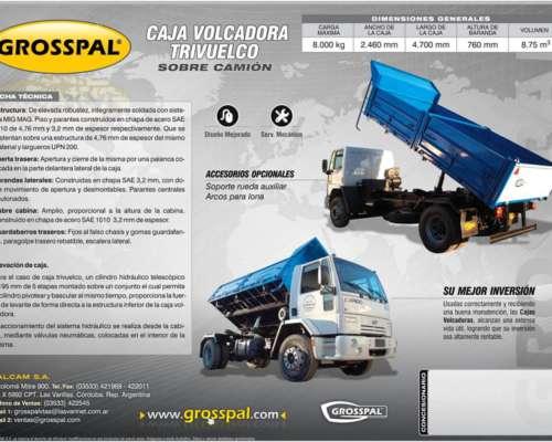 Acoplado Volcador Trivuelco Sobre Camion - Grosspal