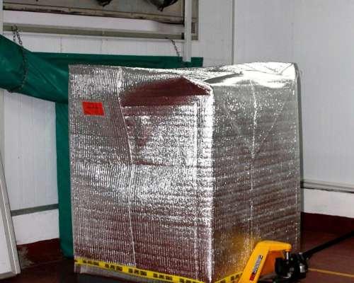 Funda Aislacion Termica Aluminizada para Pallet con Piso