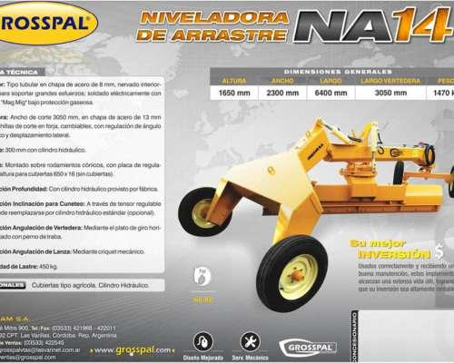 Niveladora de Arrastre NA 14 - Grosspal
