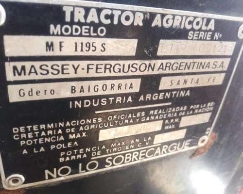 Massey Ferguson 1195s, con Duales y Viesa