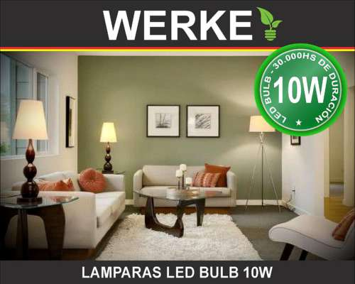 Lampara LED Bulb Werke 10w E27 6400k