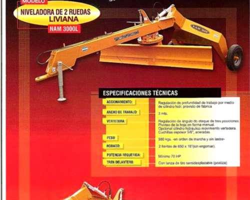 Niveladoras de 2 y 4 Ruedas Metalbert.