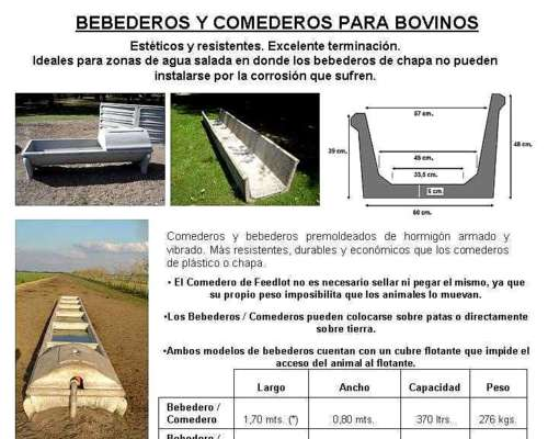 Comederos para Hacienda -