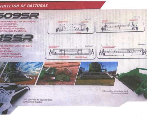 Recolector de Pasturas a Lona Modelo 609 SR - 615 SR