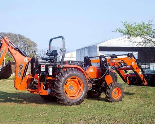 Tractor Kubota Con Pala Frontal Y Retroexcavadora