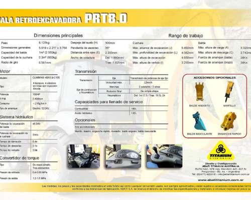Cargador Retroexcavador PRT 8.0