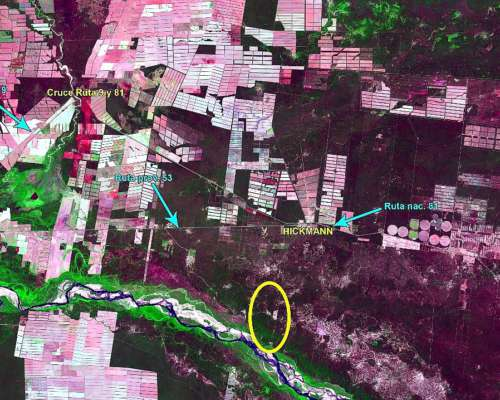Hickmann, (salta) Sobre Rio Bermejo, a 10 km de Ruta Nac. 81