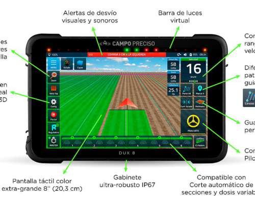 Banderillero y Mapeador Satelital DUX 8 Lite