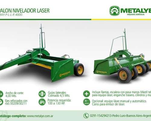 Palones Niveladores de 4 Mts de Ancho para Nivel Laser
