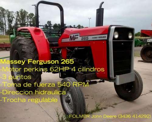 Massey Ferguson 265 Levante de Tres Puntos