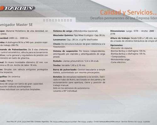 Pulverizador Master SE 2400